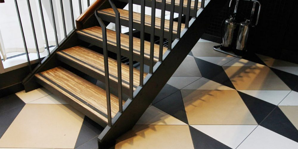 Reduced slip staircase